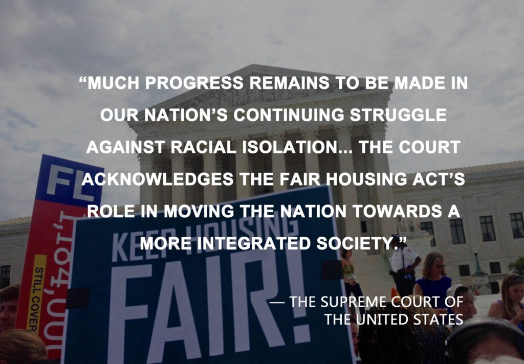 Supreme Court Upholds Disparate Impact Under the Fair Housing Act
